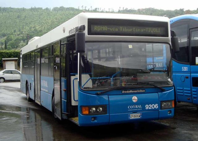 Bus Cotral Italie Rome Tivoli