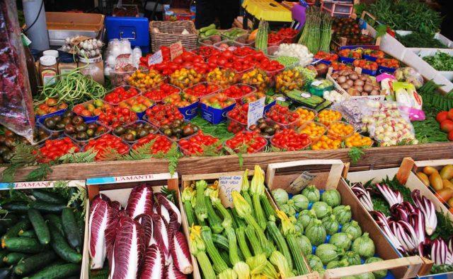 Campo de Fiori Marché Rome Légumes Produits