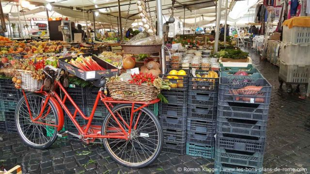 Campo de Fiori Marché Rome Vélo