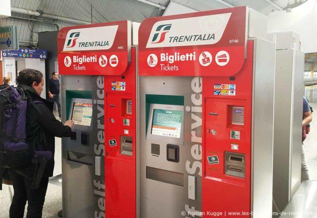 Distributeur de tickets Rome-Fiumicino Leonardo Express