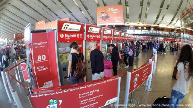 Distributeurs Tickets Train Rome Termini Leonardo Express