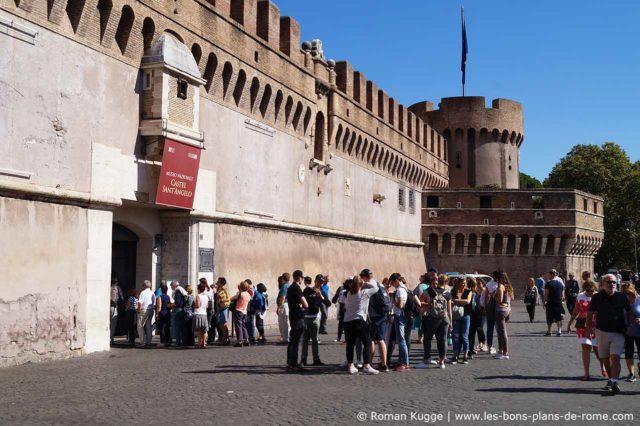 File d'attente temps d'attente Château Saint-Ange Rome