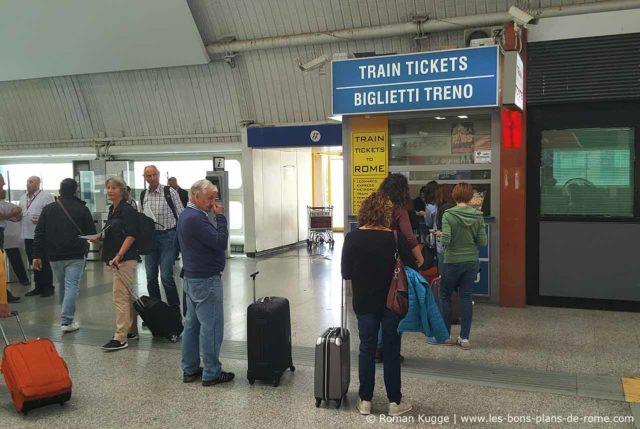Guichet Tickets Leonardo Express aéroport Rome-Fiumicino