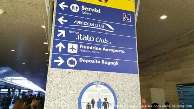 Panneau Rome Termini Leonardo Express