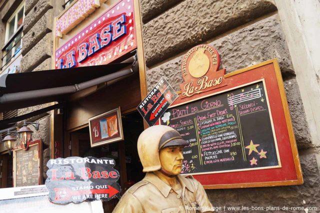 Pizzeria insolite Rome La Base