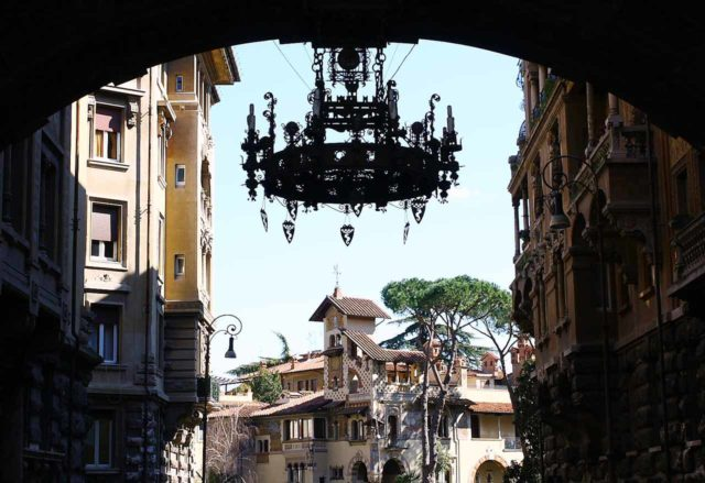 Quartiere Coppede Rome Chandelier