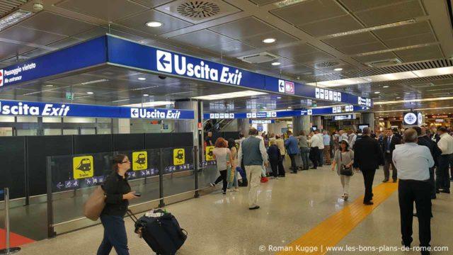 Sortie aéroport Rome Fiumicino