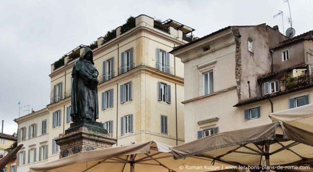 Statue Giordano Bruno Campo de Fiori Rome