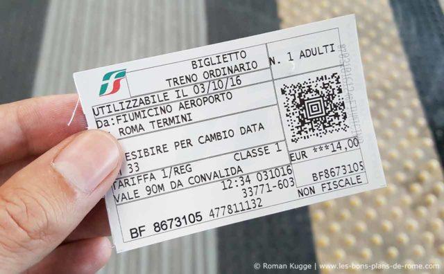 Ticket Billet Leonardo Express