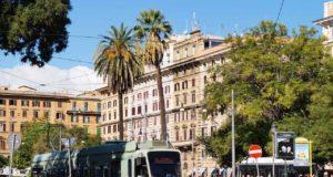 Tram tramway à Rome