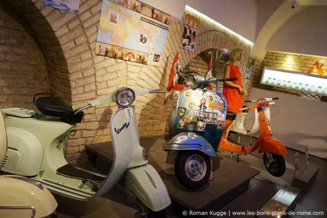 Visite de Rome en Vespa Piaggio Scooter