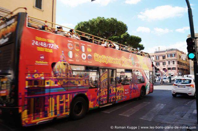 Visite de Rome en bus touristique Hop On Hop Off arrêts multiples