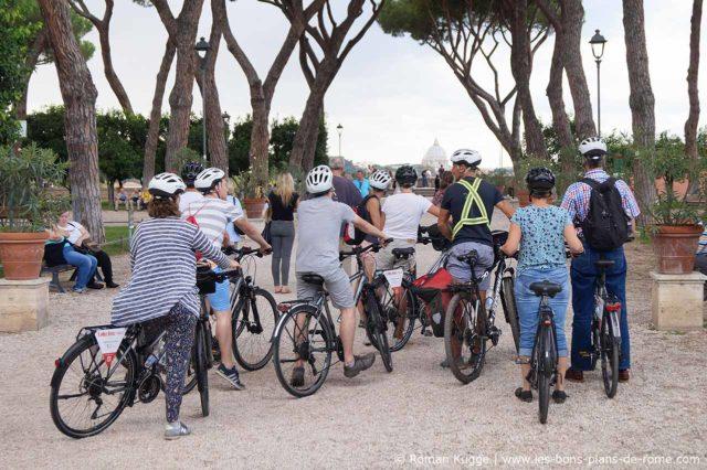 Visite de Rome en vélo