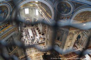 Vue intérieure coupole Basilique Saint-Pierre
