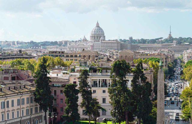 Vue panoramique parc Villa Borghese