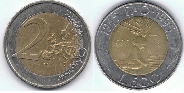 Arnaque Rome fausse pièce 2 euros