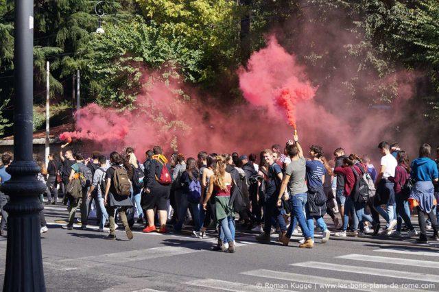 Manifestation à Rome