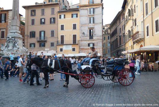 Visite de Rome en calèche