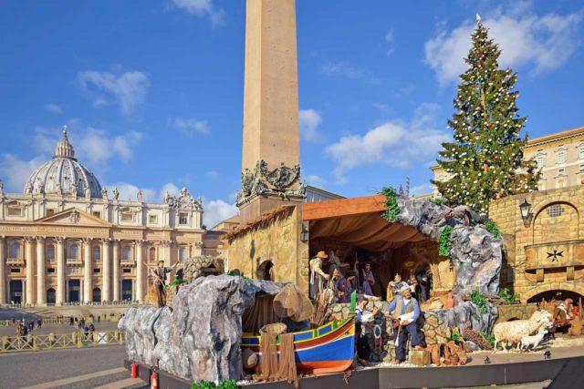 Crèche de Noël Vatican Rome