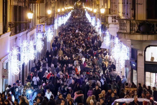 Shopping à Rome à Noël