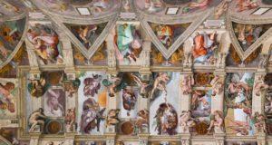 Chapelle Sixtine Fresque Plafond La Création d'Adam