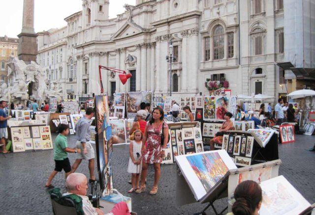 Place Navone Rome Artistes
