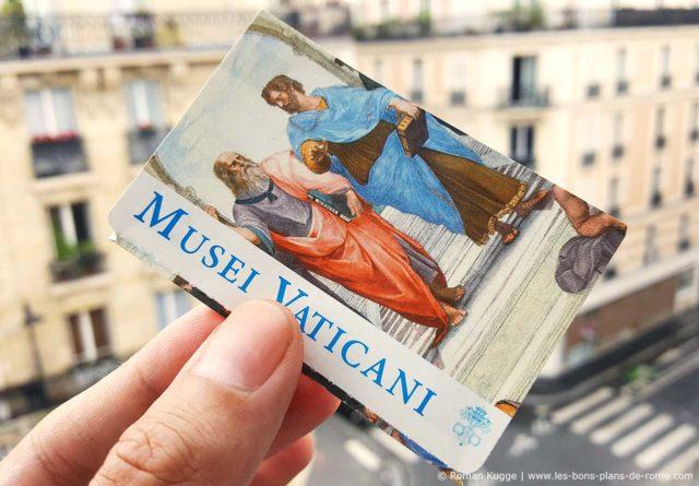 Musées du Vatican Rome Billet Prix