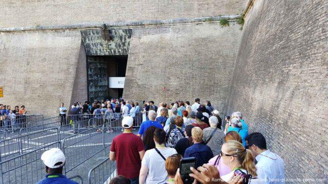Musées du Vatican Rome File Attente