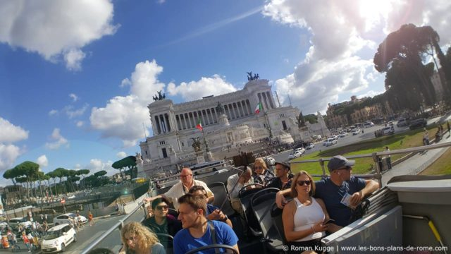 Bus touristique Hop-On Hop-Off Rome