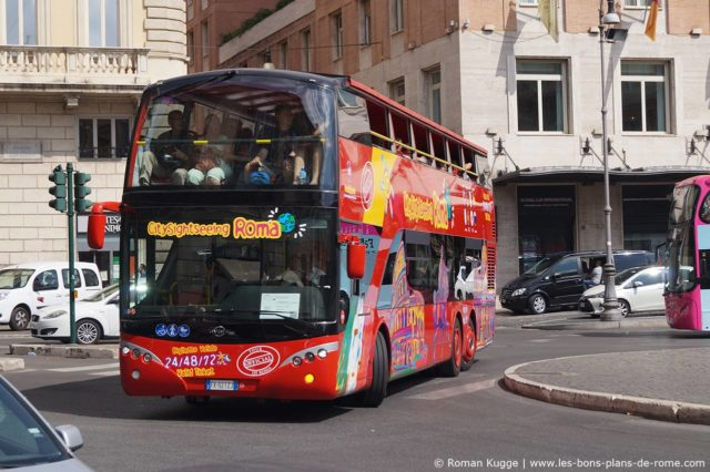 Bus touristique Hop-On Hop-Off Rome City Sightseeing