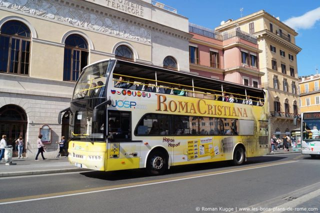 Bus touristique Hop-On Hop-Off Rome Roma Cristiana