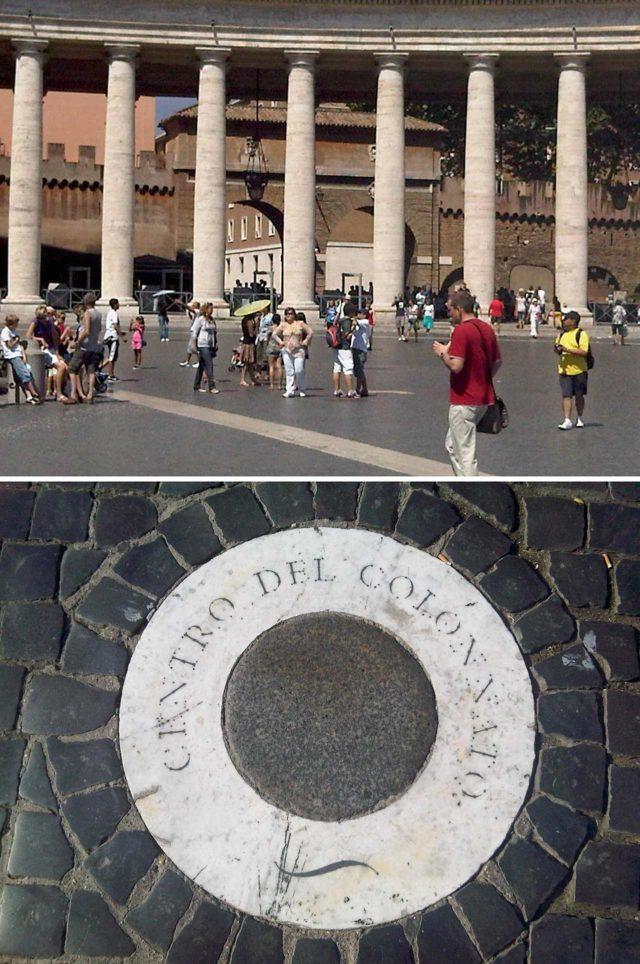Centro del colonnato Mystère Vatican Centre de la colonnade