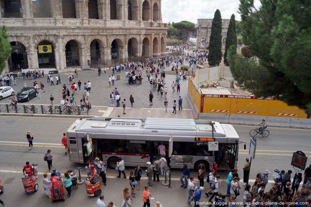 Forum Romain et Colisée à Rome Pickpockets