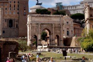 L'arc de triomphe de l'empereur Septime Sévère