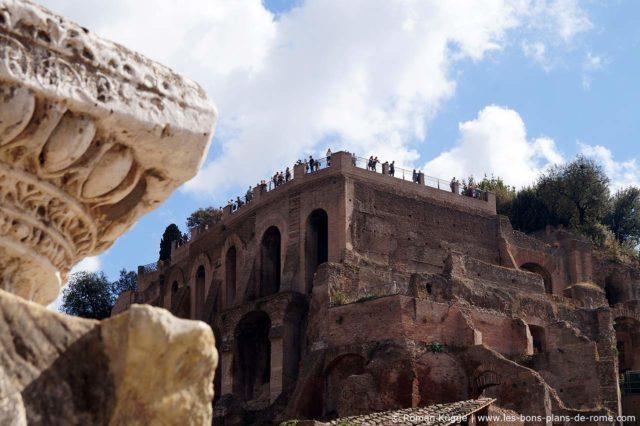 Le Mont Palatin dans le Forum Romain