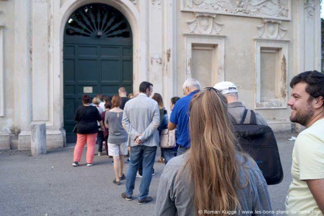 File d'attente trou de serrure Rome