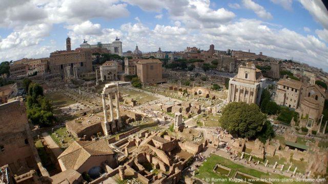 Vue Mont Palatin Forum Romain