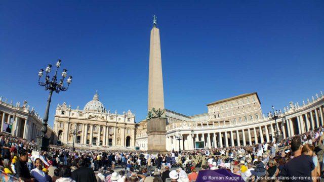 Audience papale place Saint-Pierre