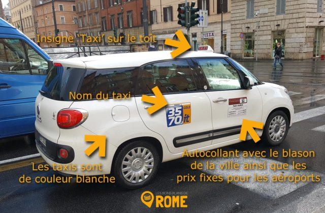 Taxis à Rome - signes distinctifs