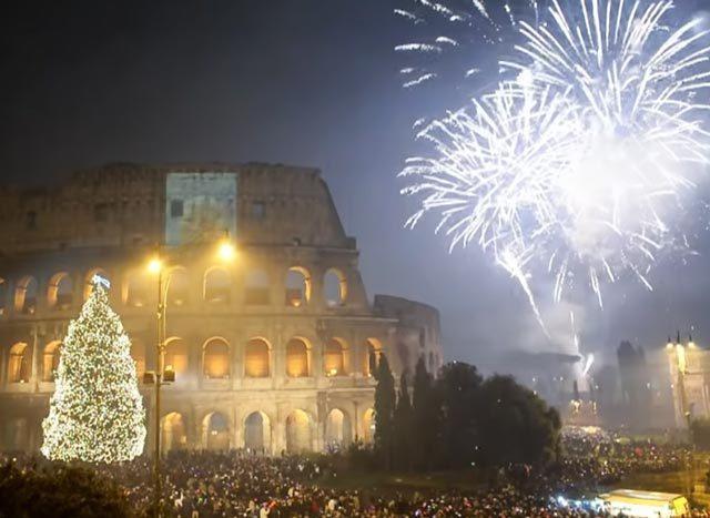 Feu d'artifice Nouvel An Rome