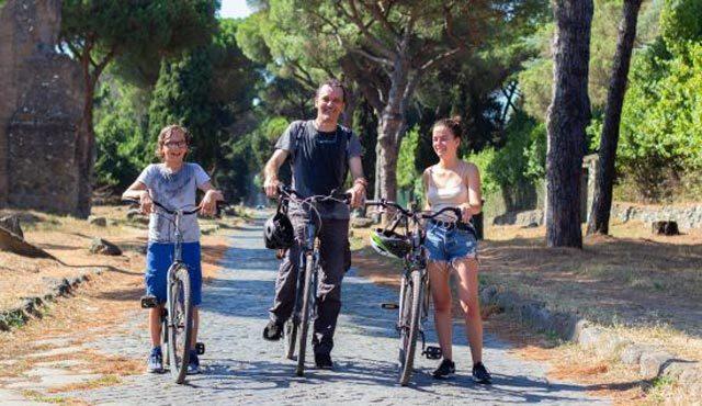 Visite de la Via Appia en vélo